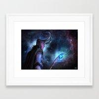 loki Framed Art Prints featuring Loki by Slugette