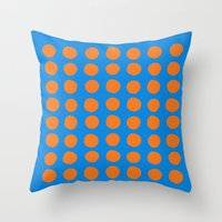 polka Throw Pillows featuring Polka  by Ruth Shaffer Art and Designs