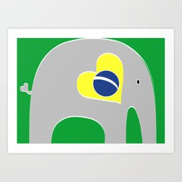 Brazilian Elephant Art Print