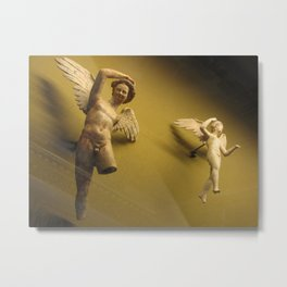 Flying in the Louvre Metal Print