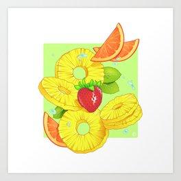 Sliced Art Print