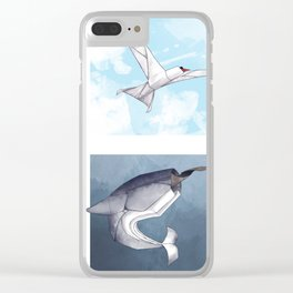 Arctic Origami Clear iPhone Case