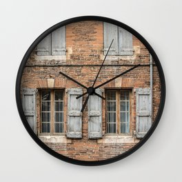 Brick wall Wall Clock