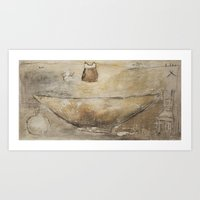 kitchen Art Prints featuring Kitchen by woman