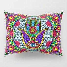 Hamsa Harmony Mandala Pillow Sham