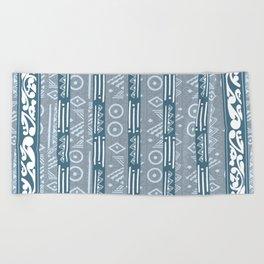 Polynesian  Blue Beach Print Beach Towel