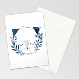 cat blue's Stationery Cards
