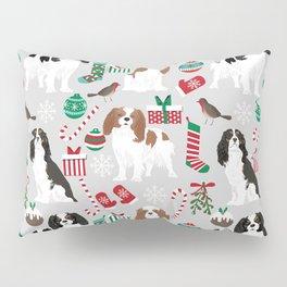Cavalier King Charles Spaniel christmas pattern gift for dog lover pet friendly pet portrait Pillow Sham