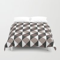 gray pattern Duvet Covers featuring Pattern Gray by Sonia Marazia