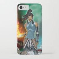korra iPhone & iPod Cases featuring Korra by Steven H. Garcia
