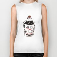 pills Biker Tanks featuring Mean Pills  by Christopher Chouinard