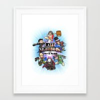 cryaotic Framed Art Prints featuring Smash LNC by soo-da