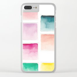 Summer Paint Chips Flat Lay Photograph Clear iPhone Case