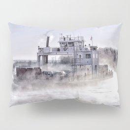 Sugar Islander Ferry Winter Fog Pillow Sham