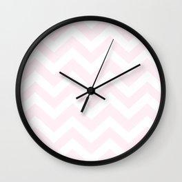 Lavender blush - pink color - Zigzag Chevron Pattern Wall Clock