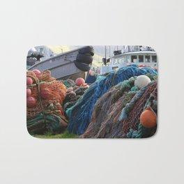 Dutch Harbor Fishing Nets and Boats Bath Mat