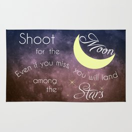 Motivational Les Brown Shoot for the Moon Rug