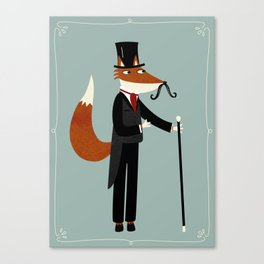Gentleman Fox Takes a Stroll Canvas Print