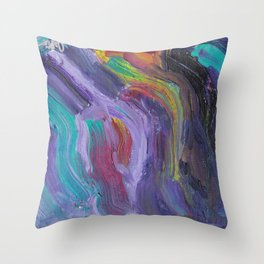 Mood Swings Into Darkness Throw Pillow