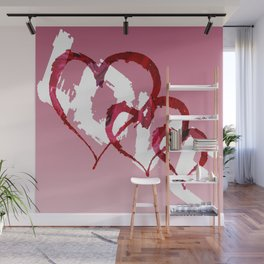 Triple Heart Love Wall Mural