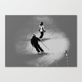 Skiing and Snowboarding Winter Fun Canvas Print