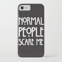ahs iPhone & iPod Cases featuring Normal People Scare Me AHS by Double Dot Designs