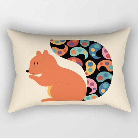 Paisley Squirrel Rectangular Pillow