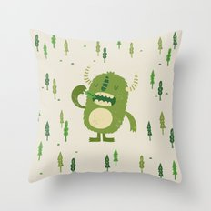 the tree muncher Throw Pillow