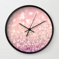 blush Wall Clocks featuring Blush by Lisa Argyropoulos