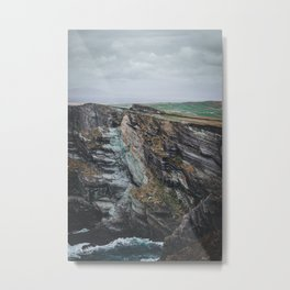 Up on the Kerry Cliffs Metal Print