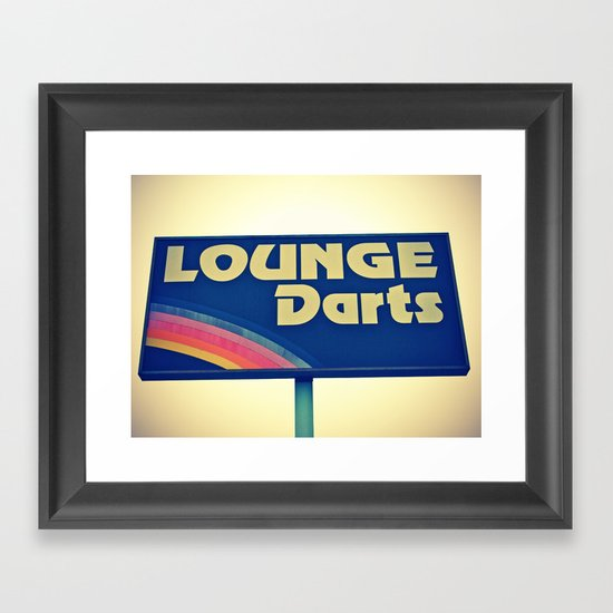 Lounge Darts sign Framed Art Print