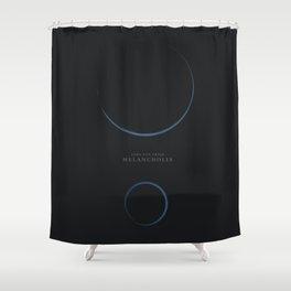 Melancholia, Lars Von Trier, minimalist movie poster Shower Curtain