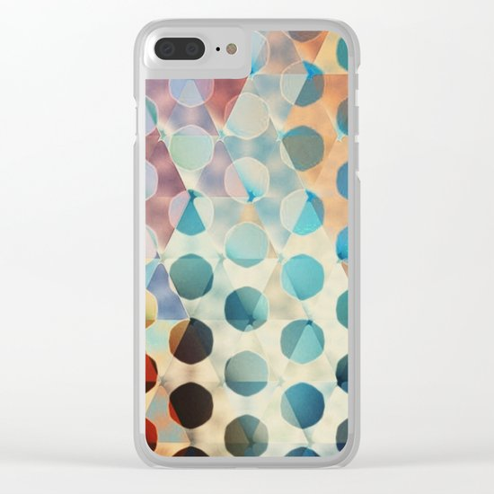 Circles on Triangles Antique Clear iPhone Case
