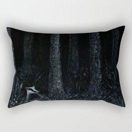 Midnight Silver Wood Badger Rectangular Pillow