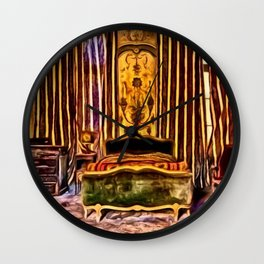 'Before We Were Shadows' Abandoned Lovers Bedroom Portrait Wall Clock