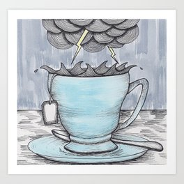 Storm In A Teacup Art Print
