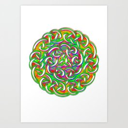 celtic knot Art Print