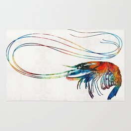 Colorful Shrimp Art by Sharon Cummings Rug
