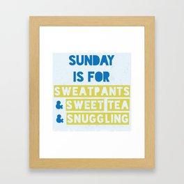 Sunday is for Sweet Tea Framed Art Print
