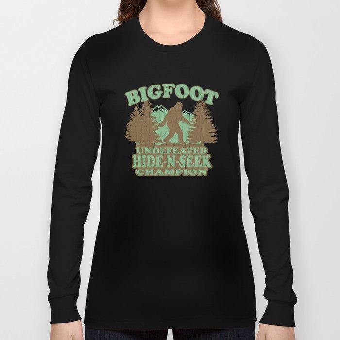 94793fe5 Bigfoot Hide-and-Seek Champion (vintage distressed look) Long Sleeve T-shirt