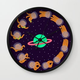 Space Octopuses! Wall Clock