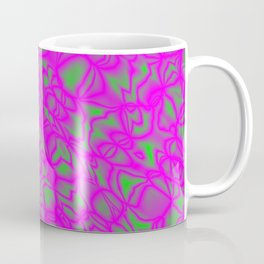 Chaotic pink soap bubbles with a pattern of blurred outlines. Coffee Mug