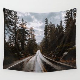Rainy Day Adventures in the Forest Wall Tapestry