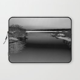 Then There is Cold... in Black and White Laptop Sleeve