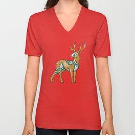 Mandala Deer Unisex V-Neck