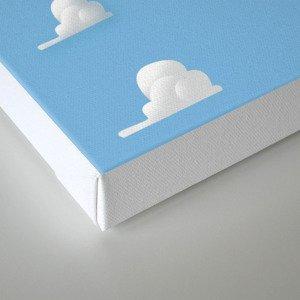 Cartoon Cloud Pattern Canvas Print