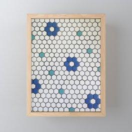 Historic Hexagons Framed Mini Art Print