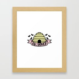 Oh, Honey Framed Art Print
