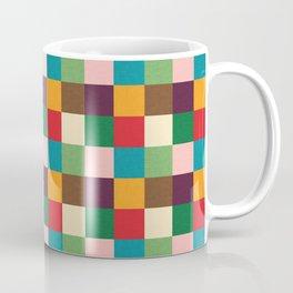 Cube pattern retro colors Coffee Mug