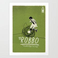 Nottingham Forest Legends Series: John Robertson Graphic Poster Art Print